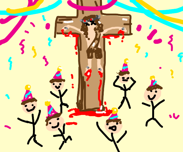 crucifixion party
