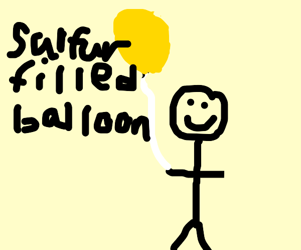 Man with a toxic balloon