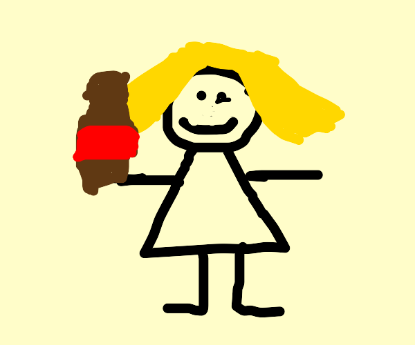 Blonde girl getting drunk