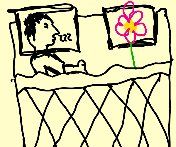 Sleeping with a Flower
