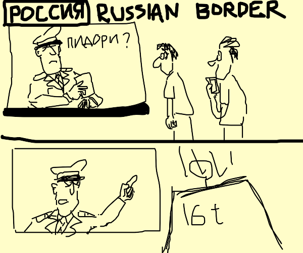 Russia does not allow the gays to enter