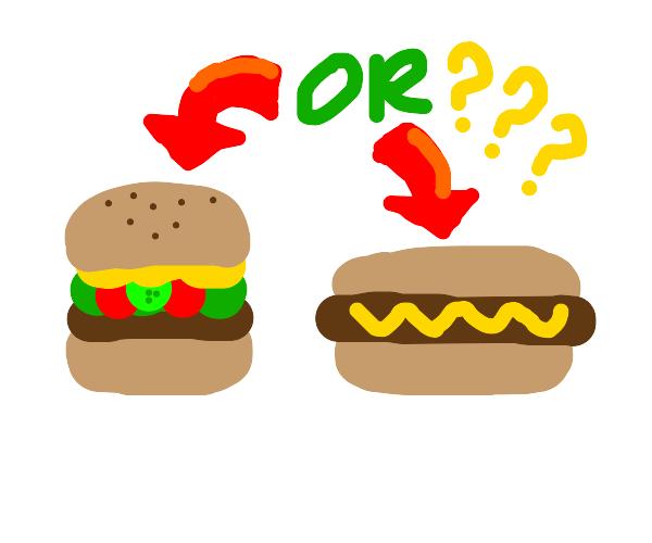 A Hamburger or a Hotdog?