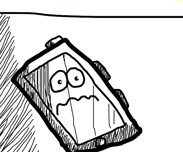 watching phone in absolute despair