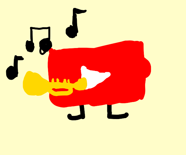 Youtube playing the trumpet