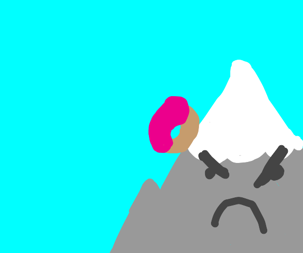 donut sliding down angry mountain