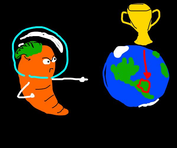 Space Carrot angrily chooses favorite Country