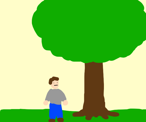 guy with tree