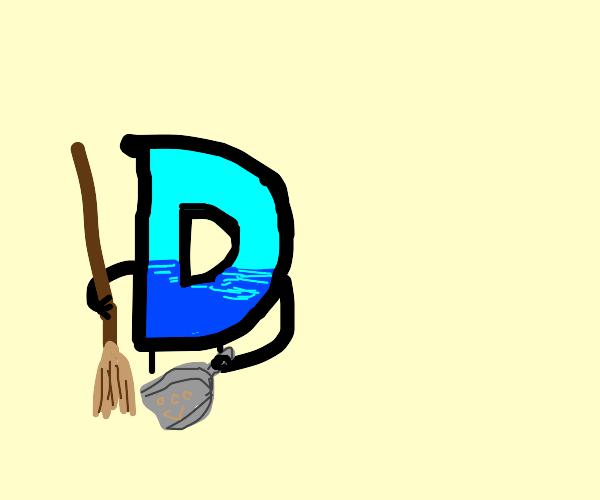 drawception logo sweeping dustbunnies