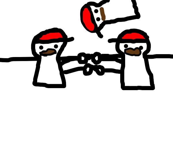 Mario Fusing with Mario against Mario's will