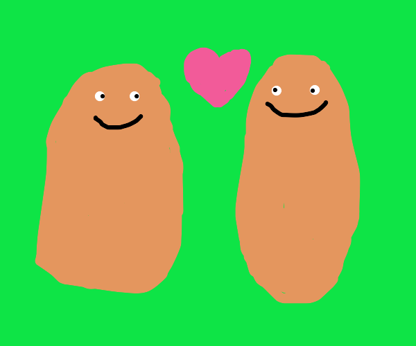 two potatoes in love