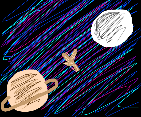 Lonely ginger floating in space.