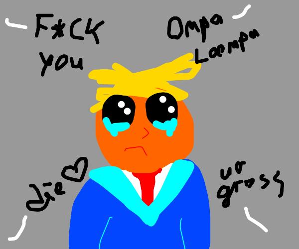 People hate on a sad Donald Trump