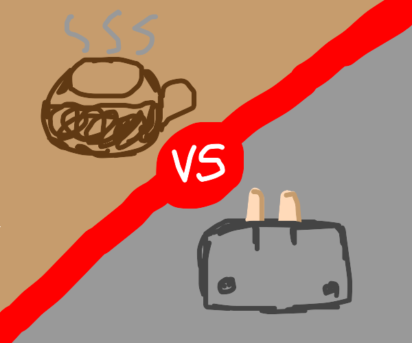 Toaster vs coffee pot