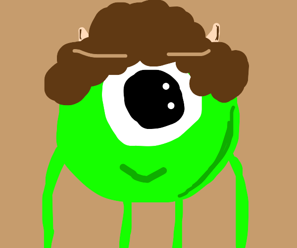 Mike Wazouski with an afro.