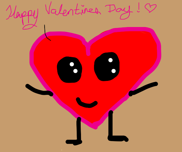 Heart wishes you a happy Valentines day