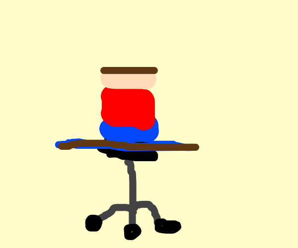 spinning around really fast in a chair