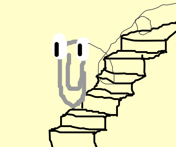 Paperclips going down the Stairs