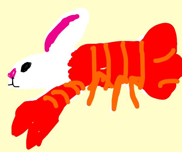 The Day Lobster (half lobster, half bunny)