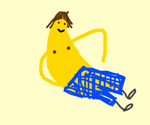 Banana wearing Pants