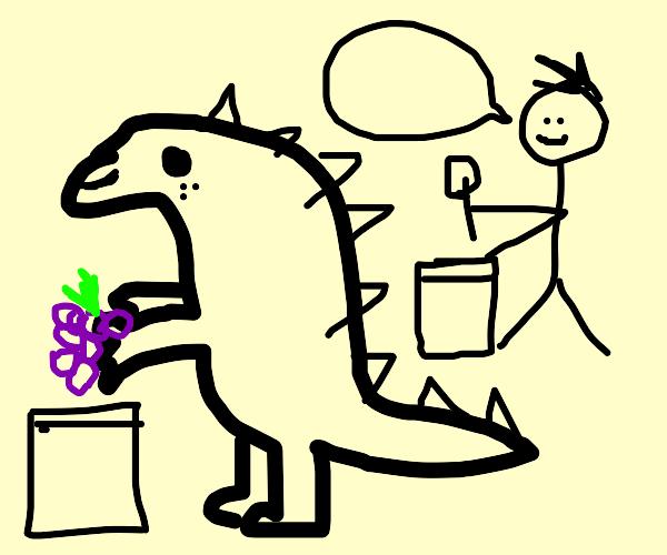 T-Rex auctioning Grapes