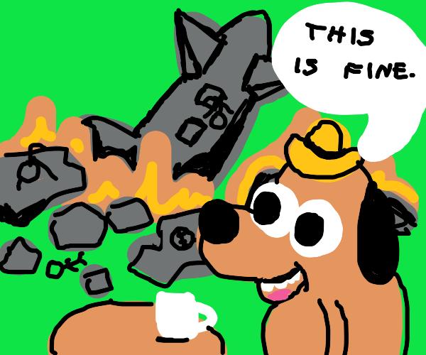 Airplane crash, totally fine!