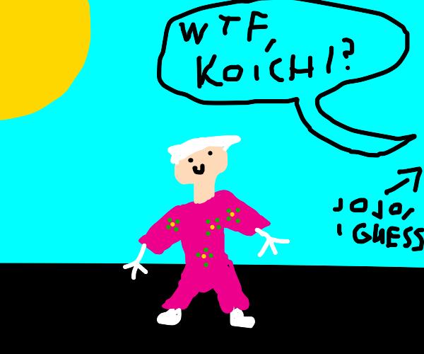 Koichi in a yukata