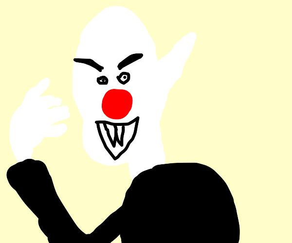 Nosferatu gets a part-time job as a clown