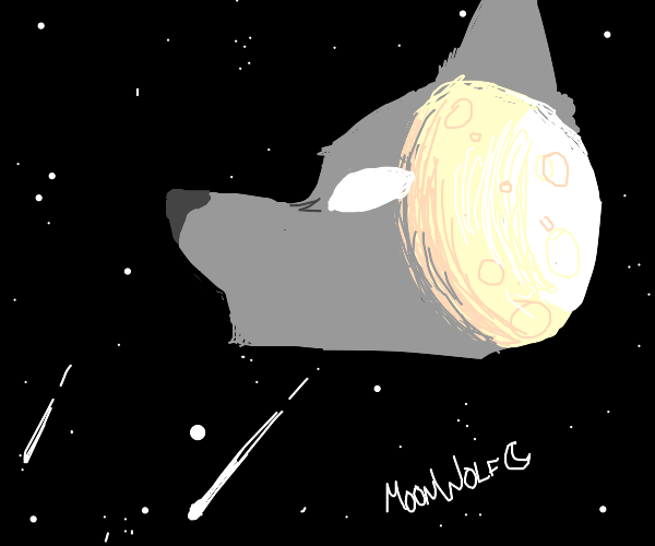 Wolf combined with Moon