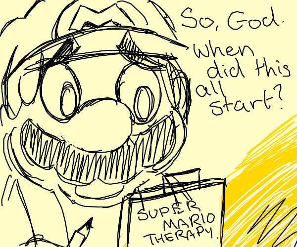 Mario provides emotional support to God