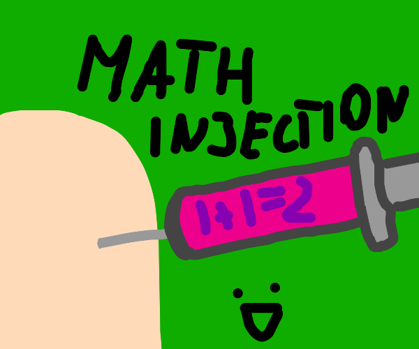 man injects himself with maths