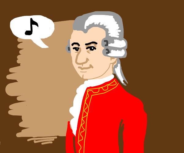 "Mozart saying ""Upakan kita dyan"""