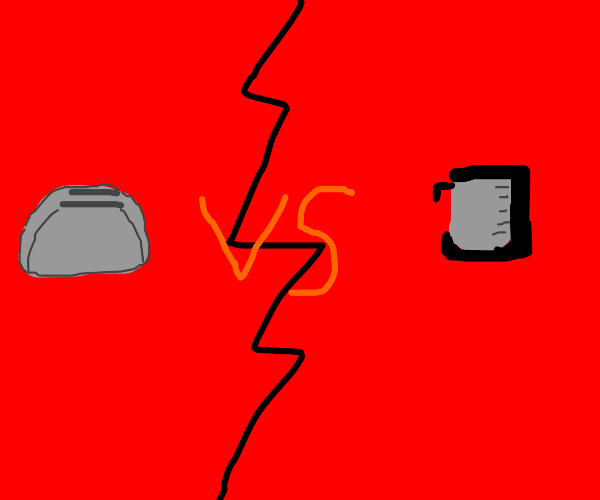 Household appliances in a standoff