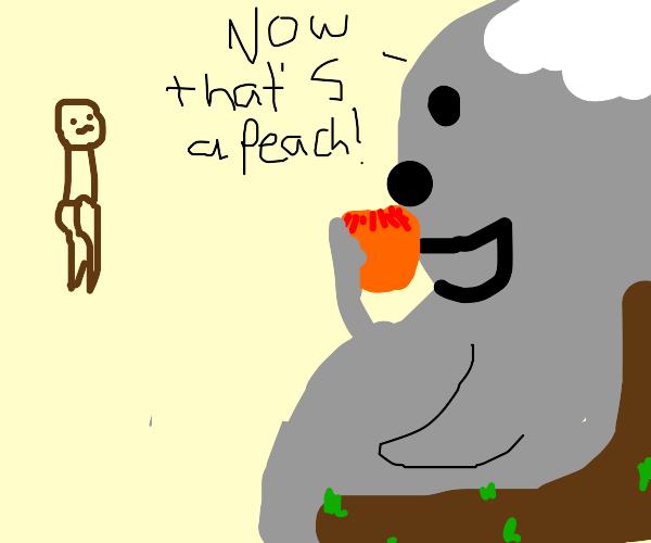 Peach-loving Koalas check out Villager's butt