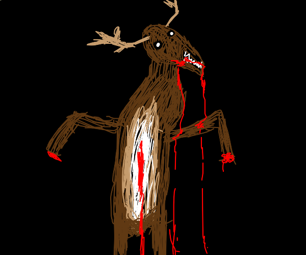 possesed deer