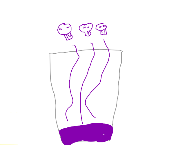 purple posion in a cup