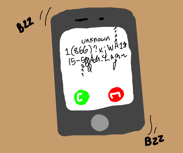 Phone with really confusing phone number