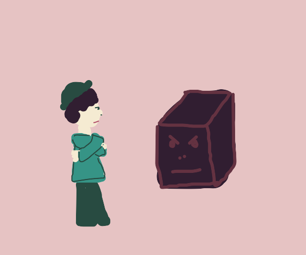 Man and Box are Mad at eachother