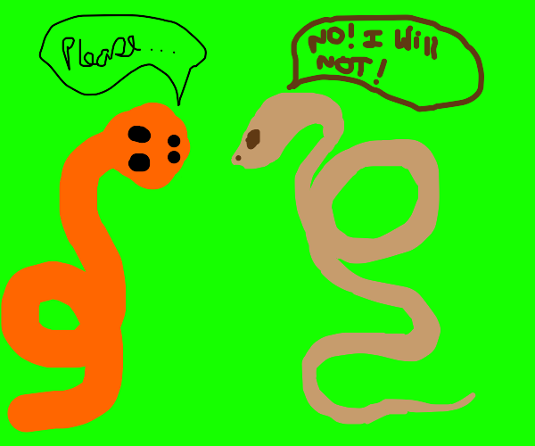 snake doesn't do something (i dont know what)
