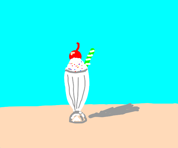 Milkshake with cherry on top