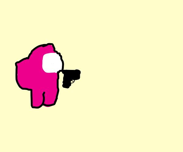 among us with a gun