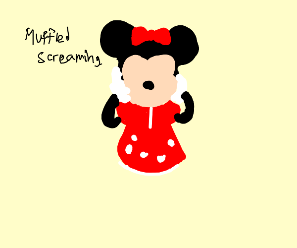 Minnie mouse without a face