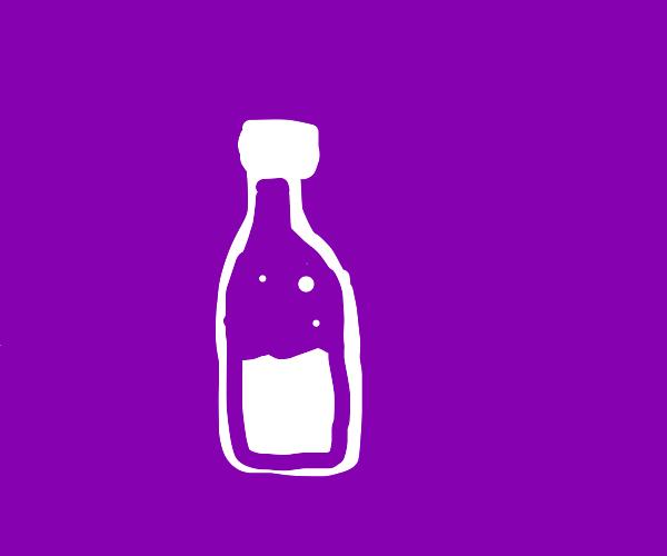 sparkling grape cider bottle