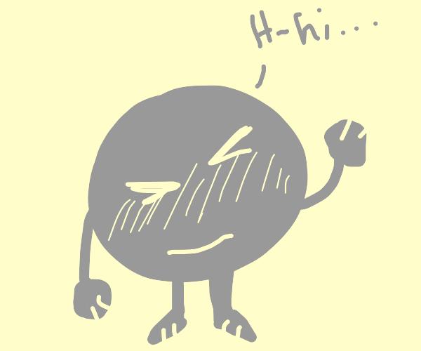 Spherical shy guy