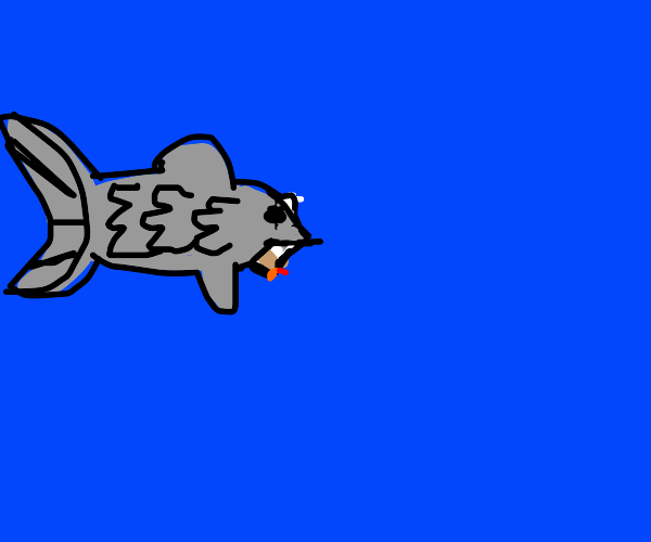 Fish eating a Cigar