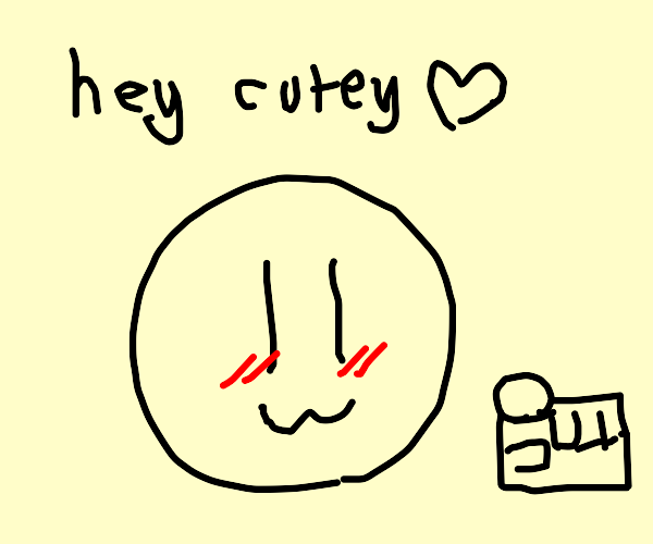 person flirts with you