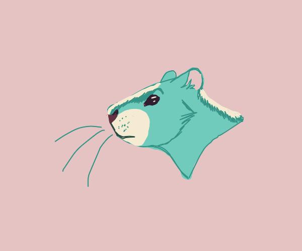 cute green chipmunk character