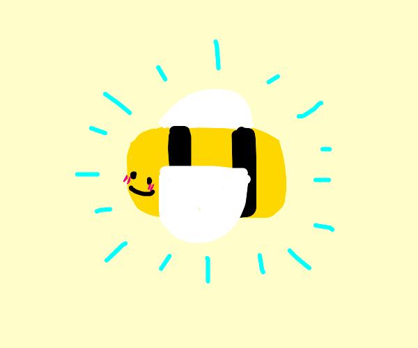 A very cute bee