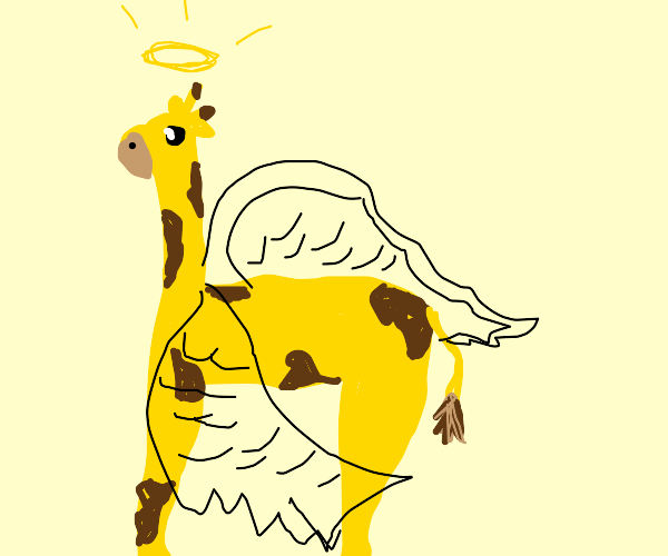 Giraffe with wings