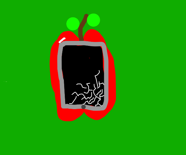 Damaged apple screen