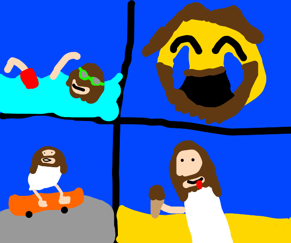 jesus having fun
